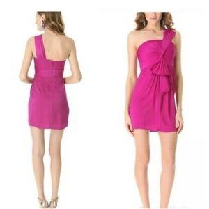 "BCBG Maxazria ""Palais"" one shoulder dress size 0"